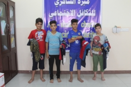 Delivery of Eid clothing to children