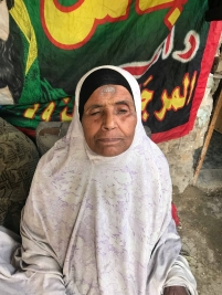 فرع مدينة الصدر : سيدة مسنة وضريرة تناشد اهل القلوب الرحيمة لمساعدتها .