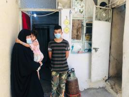 فرع مدينة الصدر : ارملة وام لاربعة ايتام  تناشد الخيرين لمد يد المساعدة