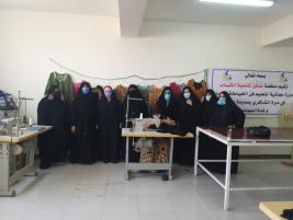 فرع مدينة الصدر : مبرة الشاكري وبالتعاون مع منظمة تمكن لتنمية الشباب تقيم دورة تديبية لتعليم الخياطة