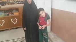 فرع النجف :- لازالت اسره السيده / رضيه تعاني مع اطفالها ظروف الحياه الصعبه