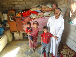 Needy family living in tragic conditions lack the basic necessities of life and living.