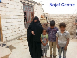 Najaf - Widow appeals for help to repair roof of house and support for her family of 9 Orphans