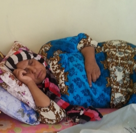 Desperately ill, displaced woman seeks urgent medical help