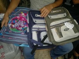 Thank you for your generous donation of students' school bags!