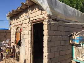 Father of underprivileged family calls for financial support to finish repairs to their  home before winter sets in.