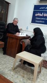 مركز ارشاد الكريعات:السيدة /زينب الفكيكي تتبرع للمريض / فارس عبد الله انور