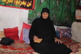 بغداد- مدينة الصدر: السيدة كاظمية سهر بدن تحصل على تبرع مادي .