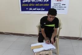 مركز- مدينة الصدر: سجاد يستلم الكفالة الشهرية لشهري ايلول وتشرين الاول لتغطية تكاليفة الدراسية .