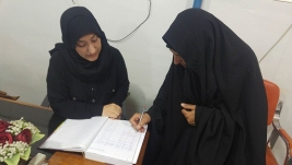 مركز ارشاد النجف : سيده كريمه تتبرع بكفاله للطفله اليتيمه / زينب فاضل كاظم