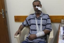بغداد- مدينة الصدر:  متابعة انسانية بعد تعرض السيد/ساجد الى حادث سير