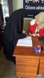 مركز ارشاد البياع : استلام الارمله/ ماجده حاتم مطر كفالتها الشهريه
